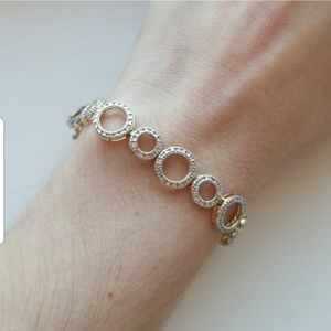 Jewelry - Gold and Silver 925 Stamped Bracelet